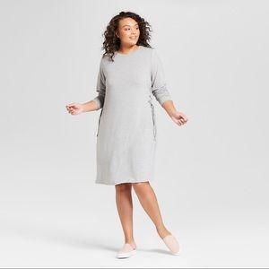 Women's Plus Size Lace-Up T-Shirt Dress - ❤️🌹